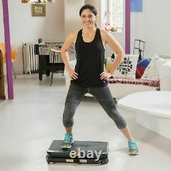 Vibrapower HIIT with Bluetooth & Resistance Bands, Remote control Charcoal