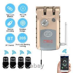 WiFi Bluetooth Smart Door Lock Remote Control Keyless Anti-theft Deadbolt A A3O7