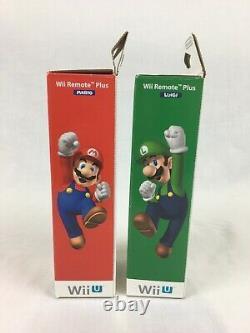 Wii U Mario & Lugio Wii Remote Motion Plus Controller With Boxes Nintendo