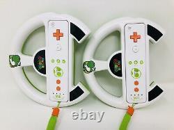 X2 Yoshi Nintendo Wii U Remote Motion Controller Limited Edition Steering Wheel