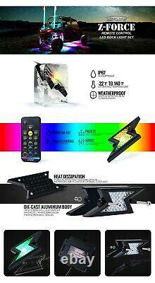 Xprite 6 Pod RGB LED Rock Lights Offroad Remote Wireless Under Body Lighting Set