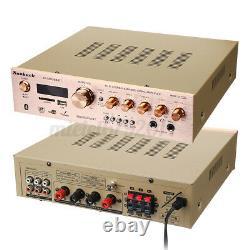 1200w Led Bluetooth Stereo Power Amplificateur Télécommande Tuner 5ch Fm Sd Usb