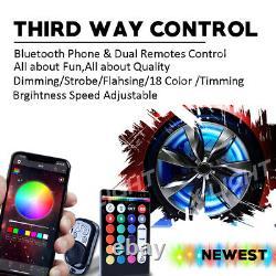 17 Roue Anneau Rim Light Rgb All-color Led Wheel Well Light Kit For Car Truck