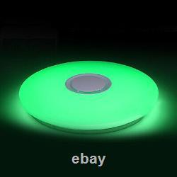 24w Led Plafond Lumière Bluetooth Haut-parleur De Musique Flush Mount Lamp Remote Control