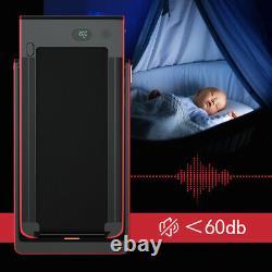 2.25hp 2 En 1 Tapis Roulant Pliant Avec Haut-parleur Bluetooth Télécommande Home Gym Rouge