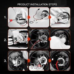 2.5'' Hid Bi Xénon Lentille De Projecteur Rgb App Bluetooth Télécommande Led Angel Eye