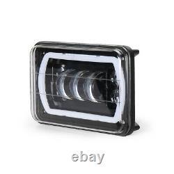 2x Dot 4x6bluetooth Télécommande Rgb Led Cree Drl Projecteur De Phare De Phare H4