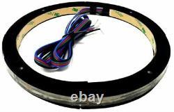 2x Universal Rgb Speaker Light Rings 8 Led Bluetooth Remote Control Ds18