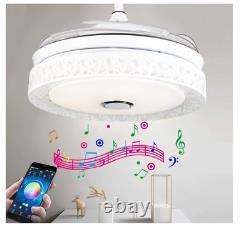 42 Ventilateurs De Plafond Lumière Chandelier À Distance - Bluetooth Control Haut-parleurs