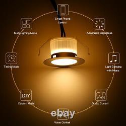 45mm Bluetooth Remote Control App Led Decking Lights Garden Stair Lighting Lamp