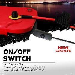 4x 15 Rgb Anneaux Pour Camion Roue Rims Lights Kit Avec Mode De Frein Active