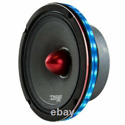 4x Universal Rgb Speaker Light Rings 6 Led Bluetooth Remote Control Ds18