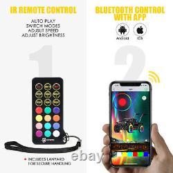 5ft Rgb Led Spiral Lumière Whip Antenna Flagpole Ir Télécommande Et Contrôle Bluetooth