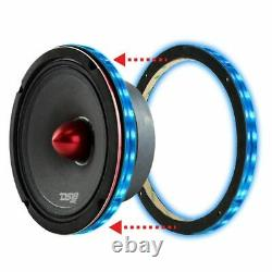 6x Universal Rgb Haut-parleur Bagues De Lumière 8 Led Btc Bluetooth Télécommande Ds18