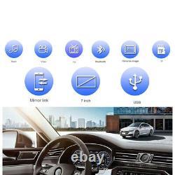 7 2din Voiture Stereo Radio Mp5 Bluetooth Touch Écran Télécommande Mirror Link