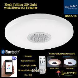 8080-16 Flush Plush Led Led Lumière Bluetooth Control Télécommande Luminosité