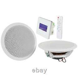 Adastra In-wall Bluetooth & Fm Radio Music System Avec Haut-parleurs De Plafond Et À Distance