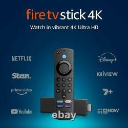 Amazon Fire Tv Stick 4k Voix Télécommande Tv Boîte De Streaming Netflix Ultrahd Au