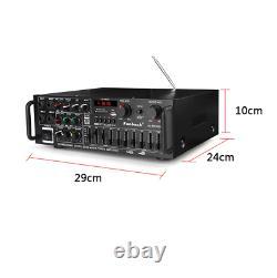 Amplifieur De Puissance Audio Haut-parleur Télécommande Bluetooth Micro Entrée Home Theater