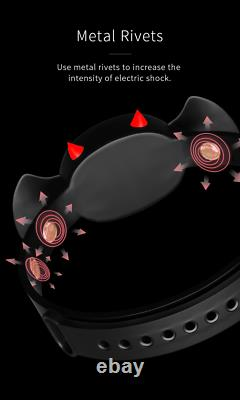 App Remote Control Electric Shock Devil Collar Neck Restraint Chastity Belt Jeu