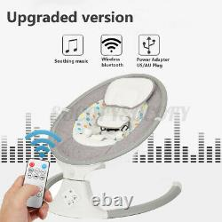 Bioby Electric Baby Swing Chair Infant Bluetooth Music Remote Control Cradle États-unis