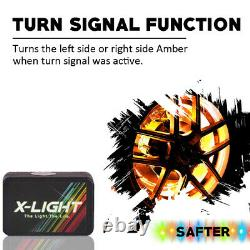 Bluetooth 4pc 17in Led Roue Anneau Light Car / Truck Kit Avec Amber Turn Signal Music