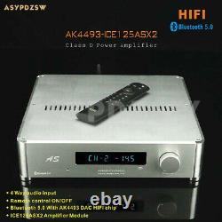 Bluetooth 5.0 Ak4493-ice125asx2 Amplificateur De Puissance De Classe D De Commande À Distance 65-125w