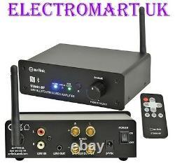 Bluetooth Digital Stereo Amp Amp Amp Amplificateur 150w Remote Control Line Entrée