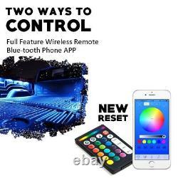 Bluetooth Rgbw Led Car Remote Control Underglow Underbody System Lights Kit