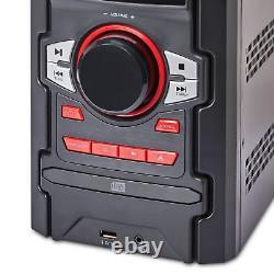 Boombox 100w Home Audio Système Étagère Stereo Bluetooth CD Usb Boombox Avec Télécommande