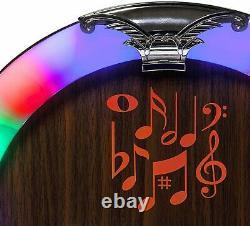 CD Jukebox Machine Fm Player Radio Retro Rockola Haut-parleurs Télécommande Bt Led