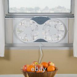 Comfort Zone Cz310r 3 Speed Double Réversible Fenêtre Ventilateur Avec Télécommande, Blanc