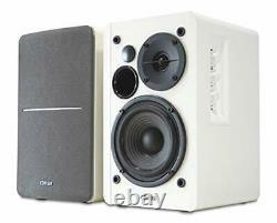 Edifier White R1280t Active Bookshelf Speaker System Avec Télécommande Et