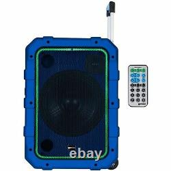 Gemini Mpa-2400 Haut-parleur Portable À Roulement Avec Télécommande Bluetooth