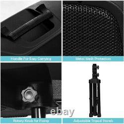 Haut-parleur Alimenté Paire 12 Bluetooth Remote Control Pa Speaker System Portable Dj