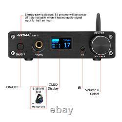 Hifi Bluetooth Preamplifier Audio Preamp Usb Oled Avec Télécommande Dac Amp