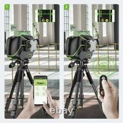 Huepar S03cg Niveau Laser 3d 360, Bluetooth, Télécommande, LCD
