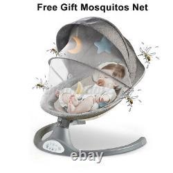 Kimbosmart 5 Speed Bluetooth Baby Swing Remote Control Rocker Avec Mosquitos Net
