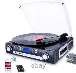Lecteur D'enregistrement De Vinyle, Table Tournante Bluetooth Avec Haut-parleurs Stéréo, Télécommande