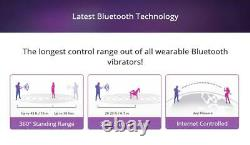Lovense Lush3 Bluetooth Remote Control Bullet Vibrateur Puissant Téléphone Intelligent Rose