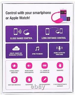 Lovense Lush Bluetooth Remote Control Bullet Vibrateur Puissant Pink Sale Stock