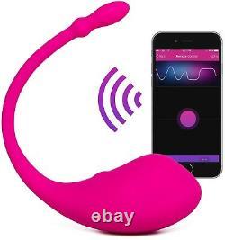 Lovense Lush Bluetooth Remote Control Bullet Vibrateur Puissant Téléphone Intelligent Rose