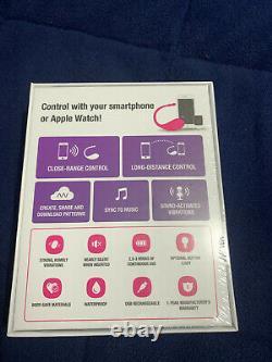 Lovense Lush Bluetooth Télécommande Smart Phone App Rose