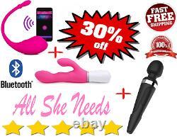 Lovense Lush Nora & Domi Le Plus Puissant Application Remote Vibrator Contrôle Bluetooth