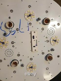 Lustre De Plafond En Cristal Avec Mp3 Et Rgb, Télécommande Et Bluetooth