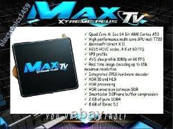 Maxtv Xtreme Plus 5g 4k Quad Core 64 Bit + Commande Vocale Througt Remote