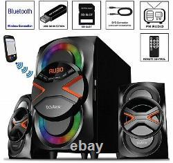 Multimédia Stereo Home Wireless System Bluetooth Speaker Fm Mp3 Télécommande