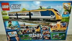New Lego City Passenger Train (60197) 10 Vitesses Bluetooth R/c, Minifigures, Accs
