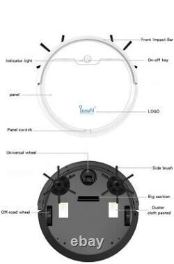 Nouveau Nettoyeur D'aspiration Robot Ecvacs Remote Controller Avec Aspirateur Max Power