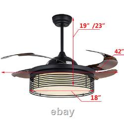 Nouveau Ventilateur De Plafond 42 Led Léger Avec Température De Couleur De Commande À Distance Réglable